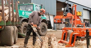 Wood-Mizer Open House in Scotland - WM1000 sawmill in...